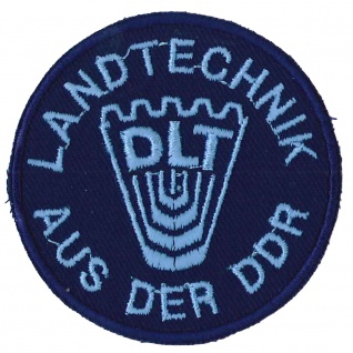 Aufnäher Applikation DLT Landtechnik aus der DDR - 04884 Gr. ca 6, 5cm - Vorschau