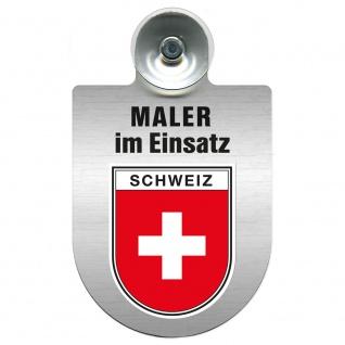 Einsatzschild Windschutzscheibe incl. Saugnapf - Maler im Einsatz - 309465 - Region Schweiz