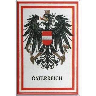 Küchenmagnet - Österreich Adler - Gr. ca. 8 x 5, 5 cm - 38967 - Magnet Kühlschrankmagnet