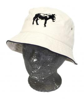 Sommerhut mit Einstickung - Esel - 60751 natur