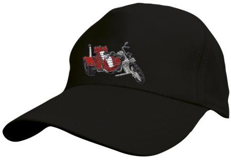 Kinder BaseCappy mit Trike-Bestickung - Trike - 69128-3 schwarz - Baumwollcap Baseballcap Hut Cap Schirmmütze