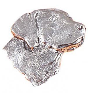 Anstecknadel - Metall - Pin - Labrador Kopf Hund Größe ca 25 x 30 mm - 05560