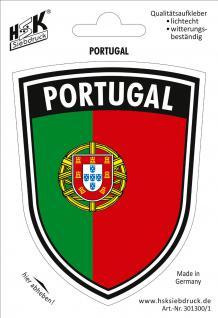 PVC Aufkleber - PORTUGAL - 301300/1 - Gr. ca. 7, 9 x 10 cm
