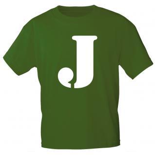 """Marken T-Shirt mit brillantem Aufdruck """" J"""" 85121-J"""