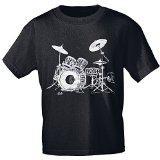 T-Shirt unisex mit Print - Drums - von ROCK YOU MUSIC SHIRTS - 09605 schwarz - Gr. L