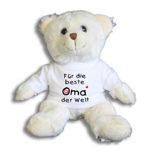 Teddybär mit Shirt - Für die beste Oma der Welt - 27032 weiß
