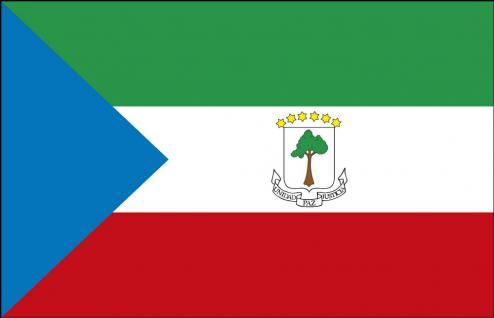 Autoländerfahne - Äquatorialguinea - Gr. ca. 40x30cm - 78002 - Länderfahne mit Klemmstab fürs Auto
