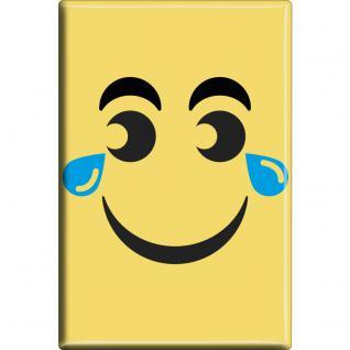 MAGNET - Emoji grinsend - Gr. ca. 8 x 5, 5 cm - 37206 - Küchenmagnet