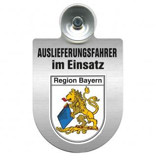Einsatzschild Windschutzscheibe incl. Saugnapf - Auslieferungsfahrer im Einsatz - 309365 Region Bayern