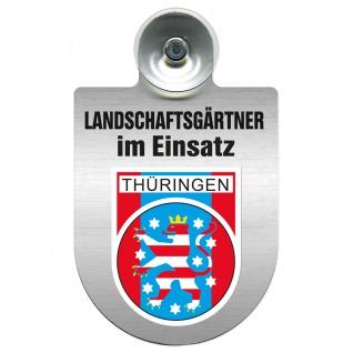 Einsatzschild Windschutzscheibe incl. Saugnapf - Landschaftsgärtner im Einsatz - 309375 - Region Thüringen