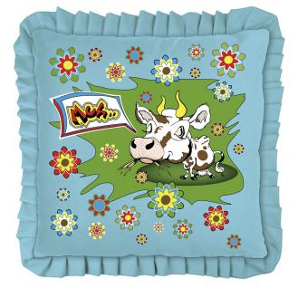 Kissen mit Aufdruck - Kuh-Karikatur - 11349 - Dekor Kissen