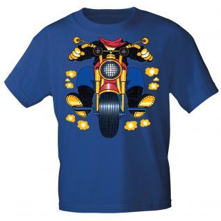 Kinder Marken-T-Shirt mit Motivdruck in 13 Farben Motorrad K12780 122/128 / Royal