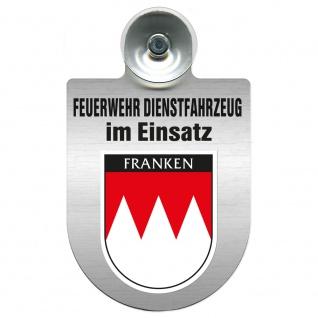 Einsatzschild Windschutzscheibe incl. Saugnapf - Feuerwehr Dienstfahrzeug im Einsatz - 393801 - incl. Regionen nach Wahl Region Franken