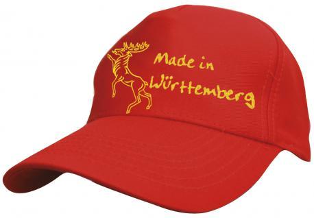 Kinder - Schirmmütze mit Bestickung - Made in Würtemberg - 60898 rot - Baumwollcap - Baseballcap - Cap