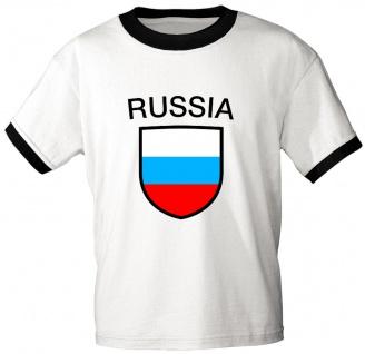 T-Shirt mit Print - Russia - Russland - 76435 - weiß - Gr. M