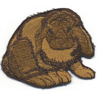 Aufnäher - Kaninchen - 00379 - Gr. ca. 7 x 5 cm - Patches Stick Applikation