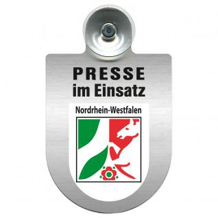 Einsatzschild Windschutzscheibe incl. Saugnapf - Presse im Einsatz - 309456-8 Region Nordrhein-Westfalen