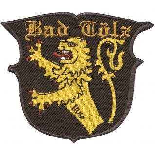 AUFNÄHER - Wappen - BAD TÖLZ - 01799 - Gr. ca. 8 x 11 cm - Patches Stick Applikation
