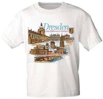 T-Shirt unisex mit Aufdruck - DRESDEN - Das Elbflorenz in Sachsen - 09302 weiß - Gr. XXL