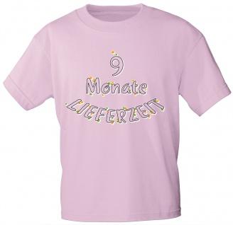 Kinder T-Shirt mit Aufdruck - 9 Monate Lieferzeit - 08259 - rosa - Gr. 86-164
