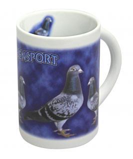 Tasse Kaffeebecher mit Print Taubensport 57435