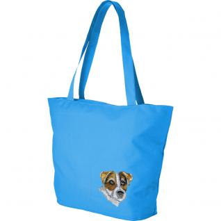 Modische Lifestyle-Tasche mit Motiv- Stickerei - Jack Russel Terrier - 15508 - Ticiana Montabri Shopper Tragetasche