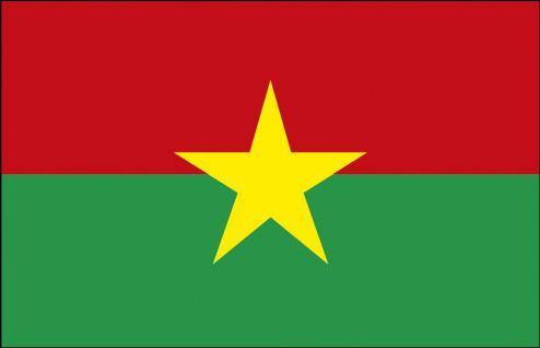 Auto-Fahne - Burkina Faso - Gr. ca. 40x30cm - 78033 - Flagge mit Klemmstab, Autoländerfahne