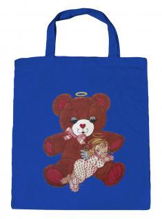 (08903/2-hellblau) Umweltfreundliche Baumwoll - Tasche , ca. 28 x 43 cm mit Aufdruck
