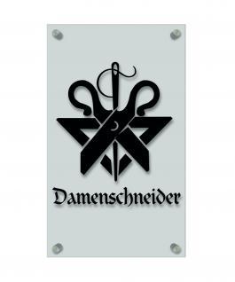 Zunftschild Handwerkerschild - Damenschneider - beschriftet auf edler Acryl-Kunststoff-Platte ? 309451 schwarz
