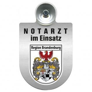 Einsatzschild Windschutzscheibe incl. Saugnapf - Notarzt im Einsatz - 309353 Region Brandenburg