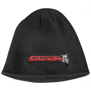 Beanie-Mütze mit Einstickung - SCHWALBE - 54576 - schwarz