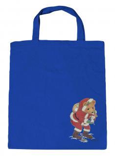 (08903/3-hellblau) Umweltfreundliche Baumwoll - Tasche , ca. 38 x 43 cm mit Aufdruck