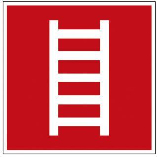 Hinweis- Alu- Schild - Brandschutzkennzeichen - Leiter - nach BGV A8, DIN 4844 und Arbeitsstättenverordnung 150 x 150 mm - K127/81
