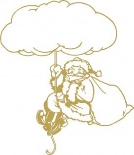 Wandtattoo Dekorfolie Weihnachtsmann WD0819 - gold / 120cm