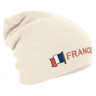 Longbeanie Slouch-Beanie Fahne Frankreich France 55416