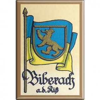 Küchenmagnet - Wappen Biberach - Gr. ca. 8 x 5, 5 cm - 37510 - Magnet Kühlschrankmagnet