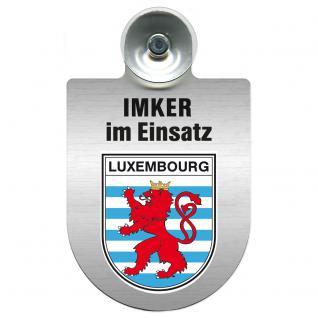 Einsatzschild mit Saugnapf Imker im Einsatz 309382 Region Luxembourg