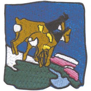 Aufnäher - Ziegenbock Ziegen - 03202 - Gr. ca. 6, 5cm x 4, 5cm