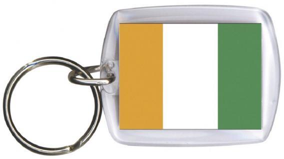 Schlüsselanhänger - ELFENBEINKÜSTE - Gr. ca. 4x5cm - 81046 - WM Länder