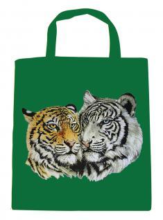 (08870/3-grün) Umweltfreundliche Baumwoll - Tasche , ca. 28 x 43 cm mit Aufdruck