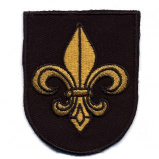 AUFNÄHER - Wappen mit heraldischer Lilie - 01020 - Gr. ca. 7x 5, 5 cm - Patches Stick Applikation