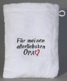 Waschhandschuh - Waschlappen - für meinen allerliebsten Opa - 31200 - ca 20 x 16 cm