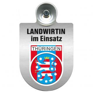 Einsatzschild Windschutzscheibe incl. Saugnapf - Landwirtin im Einsatz - 309738-13 Region Thüringen
