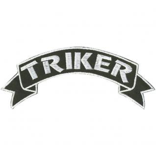 Rückenaufnäher - Triker - 08552 - Gr. ca. 18, 5 x 6, 5 cm - Patches Stick Applikation