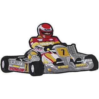 AUFNÄHER - Kart No.7 - 04763 - Gr. ca. 8 x 6 cm - Patches Stick Applikation