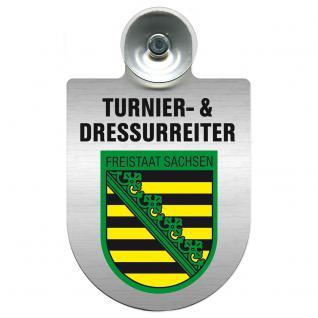 Einsatzschild Windschutzscheibe incl. Saugnapf - Turnier- und Dressurreiter im Einsatz - 309471-3 Region Freistaat Sachsen