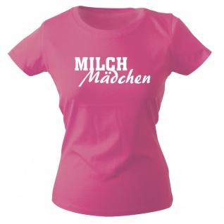 Girly-Shirt mit Print MILCH Mädchen 15704 pink Gr. XS-2XL
