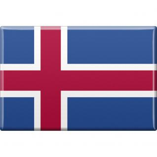 Küchenmagnet - Länderflagge Island - Gr.ca. 8x5, 5 cm - 38050 - Magnet