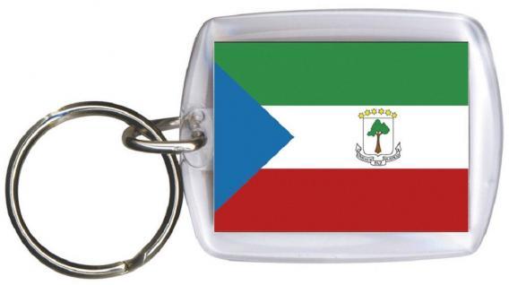 Schlüsselanhänger - ÄQUATORIALGUINEA - Gr. ca. 4x5cm - 81002 - Keyholder WM Länder