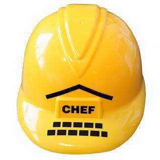 Baustellen- Helm, Bauhelm für Kinder mit Beschriftung Chef 51681 - Vorschau 2